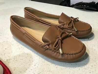 b7499270df6 Michael Kors MK DAISY Luggage Leather Moc Loafers Flats Shoes 9.5 NEW