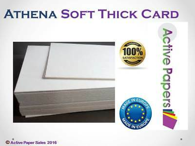 Athena Thick Cream Soft Card 500gsm 1.2mm Mount Backing Board  A5 A4 A3 A2  A1