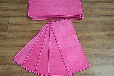 14 glitter sparkle pink bright stair Case pads Glitter / Sparkle pink stair pads