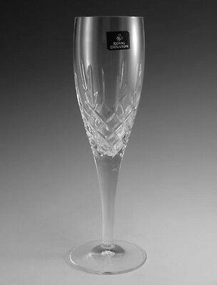 """RARE New Royal Doulton Crystal  DORCHESTER  8  1/2 """"  CHAMPAGNE flute OR flutes"""