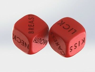 2x SEX DICE  Fun SEXY Foreplay PARTY Weekend PLAY TIME Perfe Adult Couple GAMES
