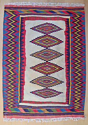 Kilim tapis ancien rug oriental orient tribal ethnique Persan Perse 1980
