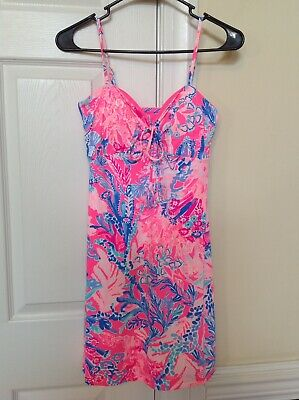 b87b1c5905737 Lilly Pulitzer Margarete Cover Up Light Pascha Pink Aquadesiac XS  Retail$118.00