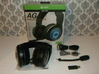 Used PDP Afterglow AG 9+ Wireless Headset for Xbox One - (Mic / Mic Input Issue)