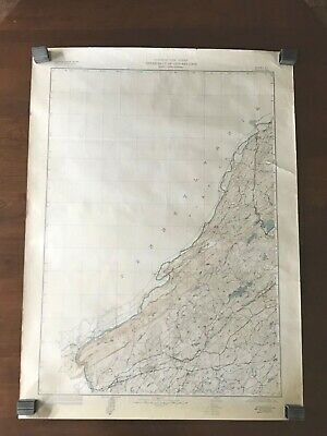 1946 State Of New Jersey Department of Conservation Topographic Map Color 27x37