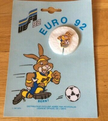 RARE Pin's pins VINTAGE (NEUF SOUS BLISTER) + EURO 92 UEFA suéde