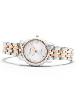 *BRAND NEW* Citizen Women's Jolie Diamond-Accent Two Tone Watch EM0716-58A