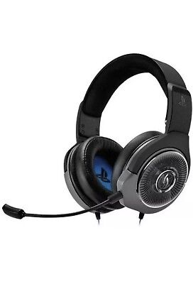 PDP Afterglow - AG 6 Wired Stereo Gaming Headset for PS4 Black. NEW