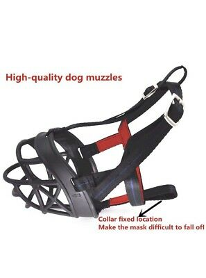 "Adjustable Breathable Silicone Rubber Dog Muzzles Size3 / 3"" Length 10-12"" Snout"