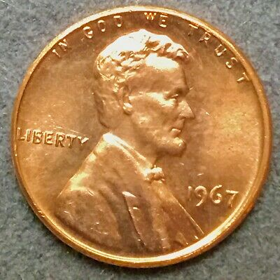 *1967 p* Uncirculated BU Red Lincoln Memorial Cent *Free Ship*