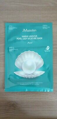 1EA JM solution MARINE LUMINOUS PEARL DEEP MOISTURE MASK  + ESSENCE + EYE CREAM