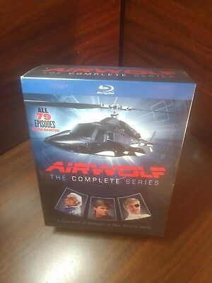 Airwolf: The Complete Series (Blu-ray Disc, 2016, 14-Disc Set)NEW-Free Shipping