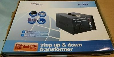 Seven Star TC-3000G 3000 Watt 110 to 220 Volt Voltage Converter Transformer NEW