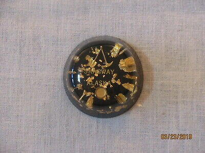 Vtg Skagway Alaska Gold Flakes in Lucite Souvenir Paperweight