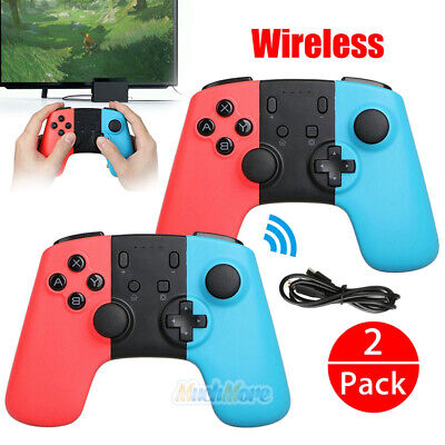 2xWireless Controller Joypad Gamepad Remote for Nintendo Switch Console Blue/Red