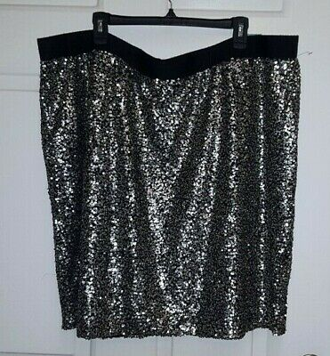 6df5c7612b NWT Maurice's 4 4x Skirt Sequin Pencil Plus size Party Pull on Stretch