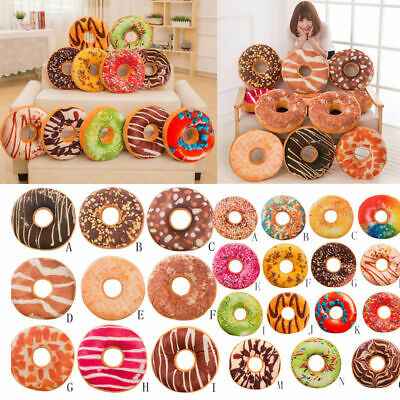 Soft Plush Pillow Stuffed Seat Pad Sweet Donut Foods Cushion Cover Case Toys Hot
