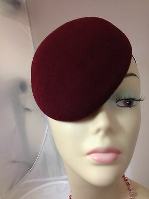Ladies Felt Small Tear Drop's shape Pill Box Hat Base/ Races / Weddings/ Ascotu