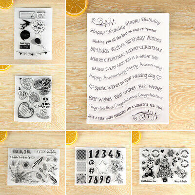 Clear Decorative Merry Christmas Scrapbooking Silicone Rubber Transparent Stamp