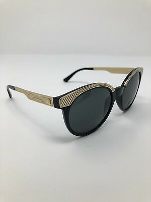 a9f2c46c07 New Authentic Versace Sunglasses Gold Women Black Mod 4330 Genuine Gb1 87  Italy