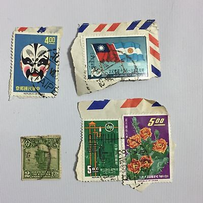 Collectible Republic of China Stamps 5 Used Individual