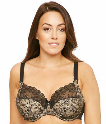 066c8d684e7 Elomi 4280 Tia Lace Bandless Full Coverage Unlined Underwire Bra US Sz 40 K