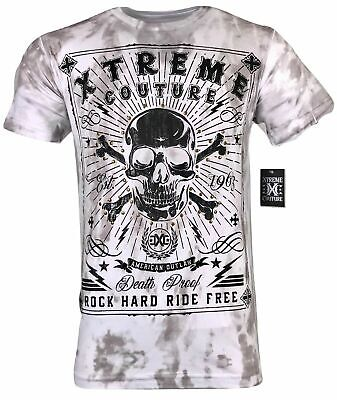 XTREME COUTURE by AFFLICTION Men T-Shirt POINT BLANK Skull Biker MMA UFC S-4X$40