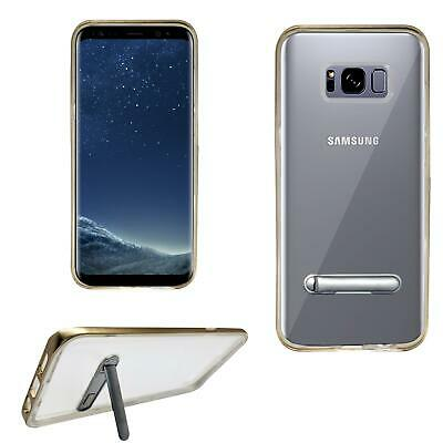 Shockproof Clear Bumper Case Gel Cover with Kickstand for Samsung Galaxy Models