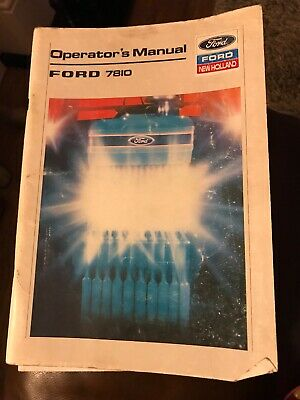 Ford 7810 Operators Manual Original