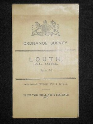 Vintage Ordnance Survey (O/S) Map of Louth -1908 -  Sheet 14 - Lincolnshire