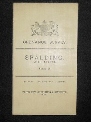Vintage Ordnance Survey (O/S) Map of Spalding - 1909 -  Sheet 18 - Lincolnshire