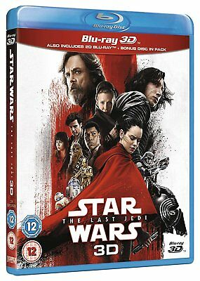 Star Wars The Last Jedi 3D (Blu-ray 2D/3D, 3-discs) BRAND NEW!!