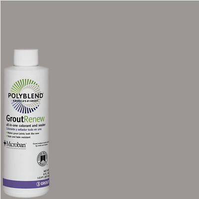 Polyblend Grout Renew DELOREAN GRAY All-in-One Colorant & Sealer 8oz - Refresh
