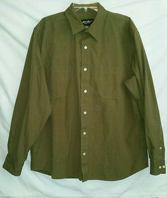 Bargain EDDIE BAUER Relaxed Fit Size L Cotton Shirt Double Pockets  misc Stains
