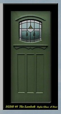 Solid wood Craftsman exterior Door with Stained glass  SGDH 44 WOW