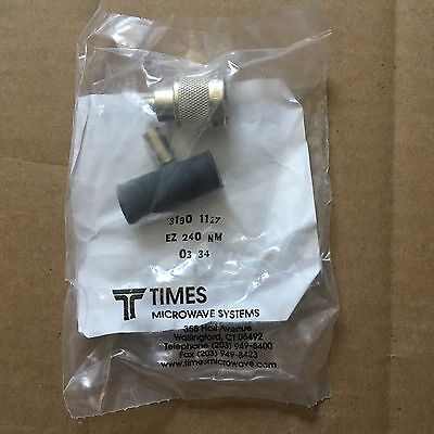 Times Microwave Ez-240-Nm N Male Connector For 1/4 Lmr-240 Foam Dielectric Cable