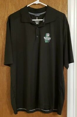 Men's ELEVATE NFL Sunday Ticket black Polo Shirt Size XL - Free Shipping