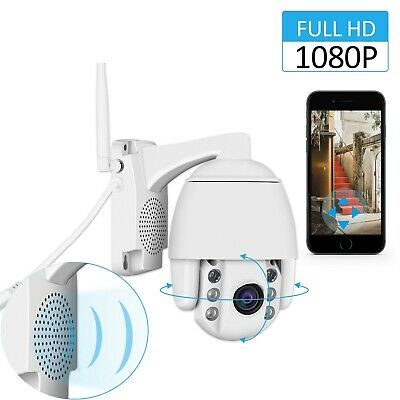 Full Color 5X Zoom 1080P Wireless HD IP Security Camera Wifi PTZ Night Vision