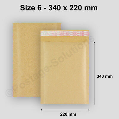 Genuine Golden Padded Bubbled Envelopes Bags 6(F/3) By Postage Solutions