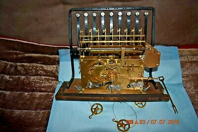 Urgos 9 tube Grandfather Clock movement for parts or project