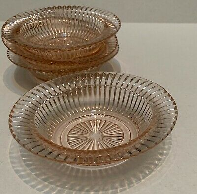 """ONE (1) QUEEN MARY PINK 6"""" Cereal Bowl with Rim by ANCHOR HOCKING"""