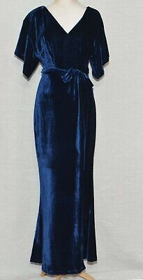 baeaa55b06b NWT Collectif Keiko Velvet Maxi Dress Blue ModCloth Silver Screening Fit 1X   119