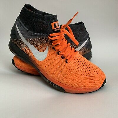 best website 4e836 c5469 Nike Zoom All Out Flyknit Mens Running Shoes Orange White 844134 800 11