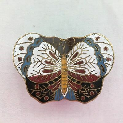 Vintage Chinese Cloisonne Enamel Butterfly Box