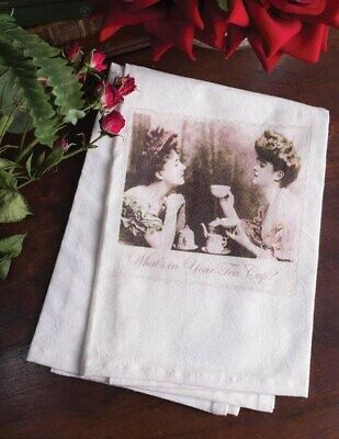 Victorian Trading Co What's in Your Tea Cup? Dish Towel or Tea Towel