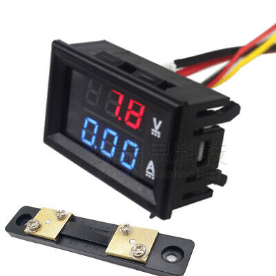 10/50/100A 100V DC digital voltage current amp meter Voltmeter Ammeter shunt