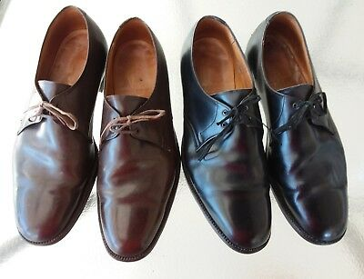 Pair of Florsheim Custom Grade 1980's Oxford Dress Vintage Shoes. Size 11.5
