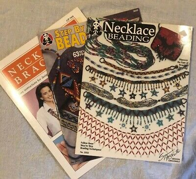 Beading Instructions Lot Of Three Books Beadwork Craft Artwork Necklace