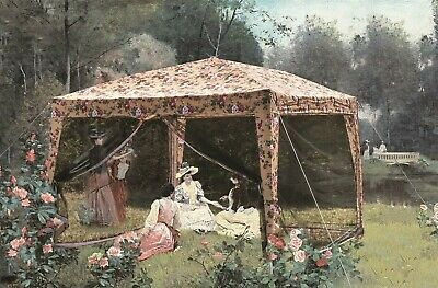 Victorian Trading Co Glamping Chintz Roses Floral Pop Up Tent Netting Only