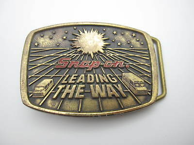 1988 Snap On Leading the Way Limited Edition Belt Buckle (Made in USA) A5